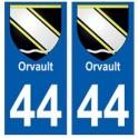 44 Orvault blason autocollant plaque stickers ville