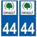 44 Orvault logo autocollant plaque stickers ville