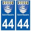 44 Saint-Nazaire blason autocollant plaque stickers ville