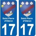 17 Saint-Pierre-d-Oleron coat of arms, city sticker, plate sticker