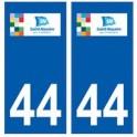 44 Saint-Nazaire logo autocollant plaque stickers ville