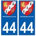 44 Saint-Sébastien-sur-Loire blason autocollant plaque stickers ville