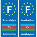 F Europe Azerbaïdjan Azerbaijan autocollant plaque