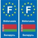 F Europe Belarus Belarus sticker plate