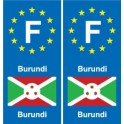 F Europe Burundi sticker plate