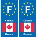F Europe Canada 2 autocollant plaque