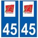 45 Fleury-les-Aubrais logo autocollant plaque stickers ville