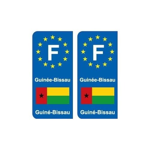 F Europe Guinée Bissau Guinea Bissau autocollant plaque