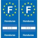 F Europe Honduras sticker plate