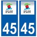45 Saint-Jean-de-Braye logo autocollant plaque stickers ville