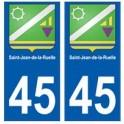 45 Saint-Jean-de-la-Ruelle blason autocollant plaque stickers ville