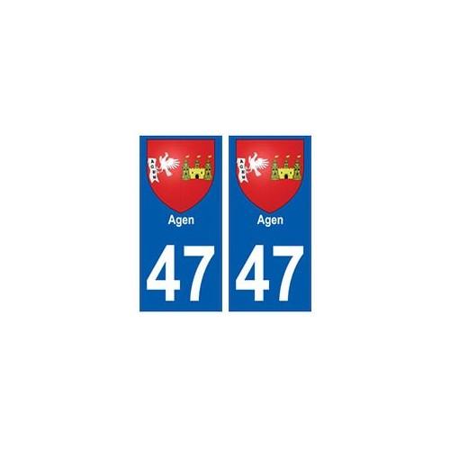 47 Agen blason autocollant plaque stickers ville