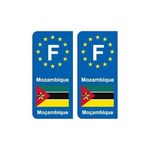 F Europe Mozambique autocollant plaque