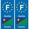 F Europe Namibia Namibia sticker plate