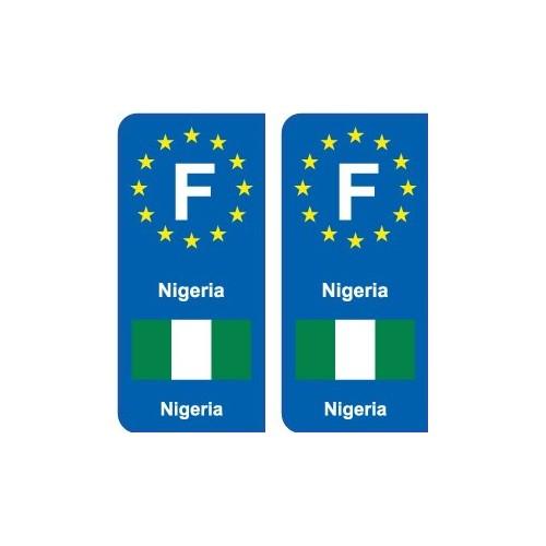 F Europe Nigeria autocollant plaque