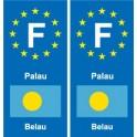 F Europe Palau 2 autocollant plaque