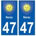 47 Nerac blason autocollant plaque stickers ville