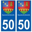 50 Équeurdreville-Hainneville blason autocollant plaque stickers ville