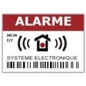 Autocollant alarme systeme électronique 24h/24h logo 533 lot de 12