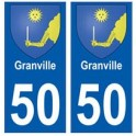50 Granville blason autocollant plaque stickers ville