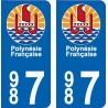 987 Hinano Polynésie sticker plate