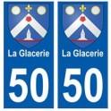 50 La Glacerie blason autocollant plaque stickers ville