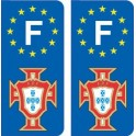 FPF Portugal football sticker plate