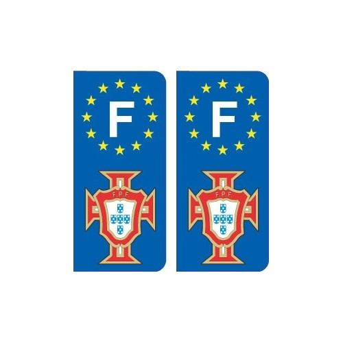 FPF Portugal football sticker plate