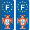 La FPF de fútbol de Portugal placa etiqueta