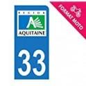 33 Gironde autocollant plaque sticker