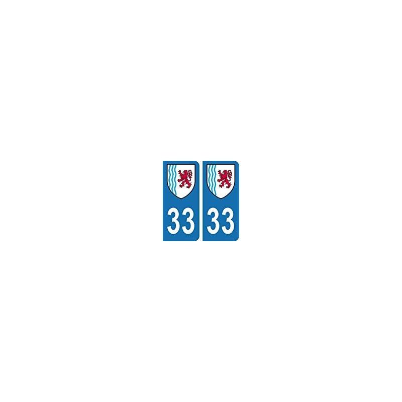 33 gironde autocollant plaque immatriculation auto sans texte d partement sticker nouvelle