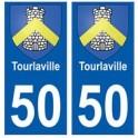 50 Tourlaville blason autocollant plaque stickers ville