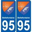 95 Bellefontaine blason autocollant plaque stickers ville