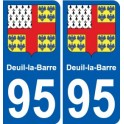 95 Deuil-la-Barre coat of arms sticker plate stickers city