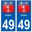 49 Angers blason autocollant plaque stickers ville