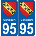 95 Génicourt coat of arms sticker plate stickers city
