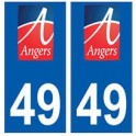 49 Angers logo autocollant plaque stickers ville