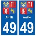49 Avrillé blason autocollant plaque stickers ville