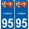 95 Livilliers coat of arms sticker plate stickers city