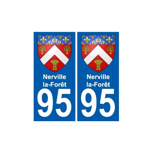 95 Nerville-la-Forêt coat of arms sticker plate stickers city