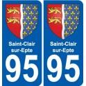 95 Saint-Clair-sur-Epte blason autocollant plaque stickers ville