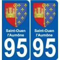 95 Saint-Ouen-l'Aumône blason autocollant plaque stickers ville