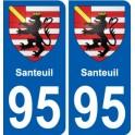 95 Santeuil blason autocollant plaque stickers ville