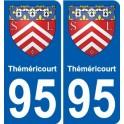 95 Théméricourt blason autocollant plaque stickers ville