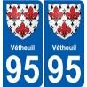 95 Vétheuil stemma adesivo piastra adesivi città
