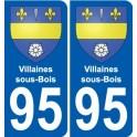 95 Villaines-sous-Bois blason autocollant plaque stickers ville