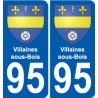 95 Villaines-sous-Bois coat of arms sticker plate stickers city