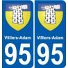 95 Villiers-Adam blason autocollant plaque stickers ville