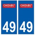 49 Cholet logo autocollant plaque stickers ville