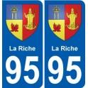 95 Wy-dit-Joli-Village blason autocollant plaque stickers ville